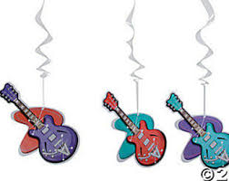 Rock And Roll Party Decorations Rock And Roll Theme Etsy