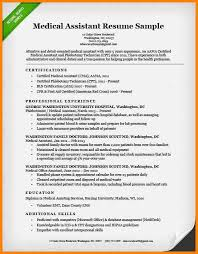 Sample Medical Assistant Resume by 6 Ma Resume Template Latest Cv Format