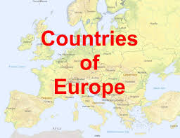 a map of europe with countries map countries of europe