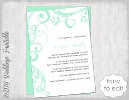 wedding invitations minted wedding invitation template scroll printable