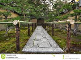 japan zen temple garden entrance stone path stock photo image