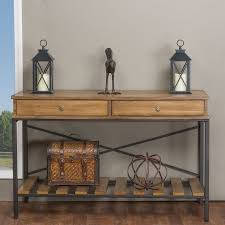 wood and amazing industrial style rustic solid wood and metal sofa table