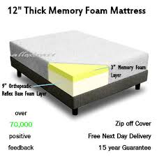 King Bed Sizes 12 Inch Thick 5ft King Bed Size Memory Foam Orthopaedic Mattress
