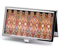Vintage Business Card Case Victorian Style William Morris Business Card Case Floral