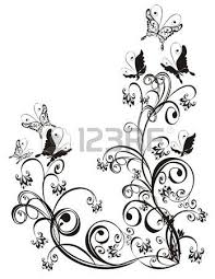 frame with butterfly and floral ornament vector royalty free