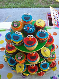 sesame street character cupcakes frosted emotion flickr