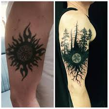 cover up tribal sun done by yusef musle a dimension in lake