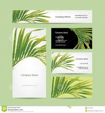business cards design tropical leaf stock vector image 52495465