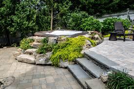 deck tub with rock garden design idea decofurnish