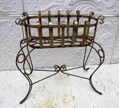 Oval Wrought Iron Patio Table by Wrought Iron Small Oval Plant Stand Metal Flower Holder For Your