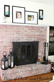 whitewash fireplace brick binhminh decoration