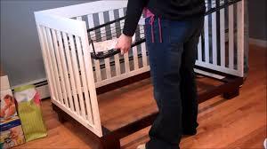 hudson convertible crib crib assembly youtube