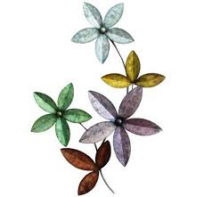Metal Flower Wall Decor - metal flower wall decor target with colorful design home