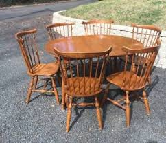 american table and chairs ethan allen colonial dining kitchen set 6 windsor chairs table early