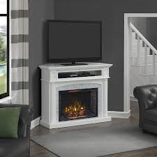 catelyn infrared electric fireplace tv stand in white 1029fm 33 201