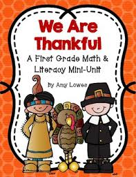 we are thankful thanksgiving math and literacy mini unit by lowes