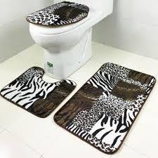 Non Slip Bathroom Rugs by Fashion 3pcs Set Bathroom Non Slip Carpet Pedestal Rug Lid Toilet
