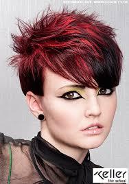 Frisuren Lange Haare Cosmoty by Kurzes Haar Mit Auffällig Roten Strähnen Frauen Frisuren Bilder