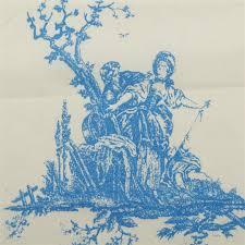 Toile De Jouy Decoration 100 Cotton Toile De Jouy Linen Muslin Canvas French Scene Print