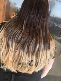 Dirty Hair Extensions by Queen C Hair Chocolate Brown Dirty Blonde Balayage Hair Extensions