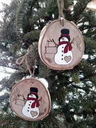 wood burned snowman 2017 personalized snowman ornament crafty