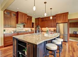 Black Kitchen Countertops by Interior Decoration Modern Open Plan Kitchen With Rectangle