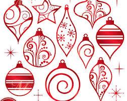 premium christmas ornaments clip art u0026 vectors ornament