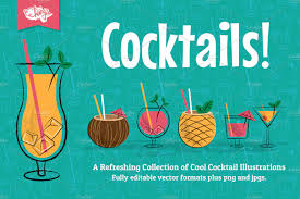 cocktail illustration cocktail party vector illustrations illustrations creative market