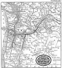 Map Of Spokane The Spokane Portland And Seattle Railway