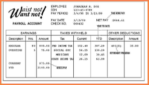free paystub template download a free pay stub template for