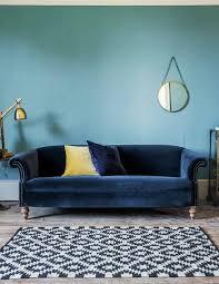 canapé velours bleu canapé en velours tout doux et tout élégant