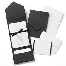 pocket invitations classic black white pocket invitation kit wedding invitations