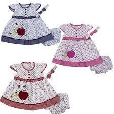 new newborn infant baby dress headband clothing size 3 6