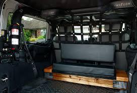 overland jeep kitchen rear facing bench seat for wrangler jk overland bound community