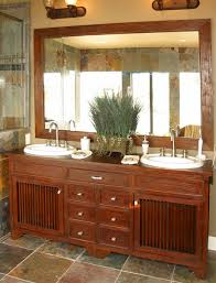 reclaimed teak wood bathroom