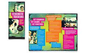 adobe indesign tri fold brochure template strength personal trainer tri fold brochure template by