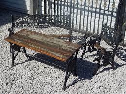 cast iron bench ends childrens garden furniture set benches