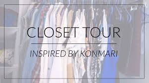 closet tour how i organize with konmari youtube