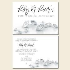 60th wedding anniversary invitations 60th wedding anniversary invitations diamonds
