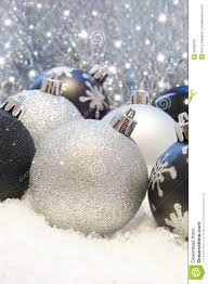 silver and black christmas decorations stock image image of star