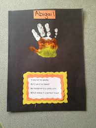 candy corn handprint cute and easy craft for pre or