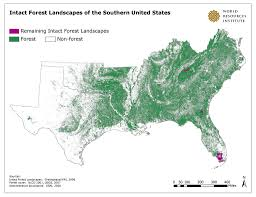 Map Of The Southern United States by Intact Forest Landscapes Of The Southern United States Flickr