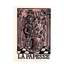 tarot card art print la papesse tarot card high priestess