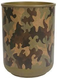 Camo Bathroom Decor Camouflage Cabin Lodge Bathroom Accessories Designer Trash Can