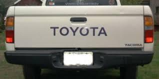 toyota tacoma tailgate tacoma logos