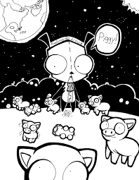 invader zim gir piggies by lavenkitty on deviantart