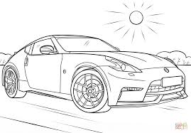 nissan skyline drawing nissan 370z coloring page free printable coloring pages