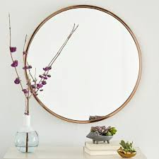 Bedroom Wall Mirrors Uk Metal Framed Round Wall Mirror West Elm Uk