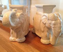 elephant end tables ceramic vintage elephant garden stool side table chinoiserie ceramic