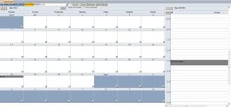 enhanced microsoft access calendar scheduling database template